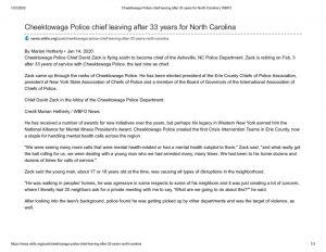 thumbnail of 2020- 01-14 Cheektowaga Police chief leaving after 33 years for North Carolina _ WBFO
