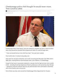 thumbnail of 2020- 01-17 buffalonews.com-Cheektowaga police chief thought he would never move Then Carolina called